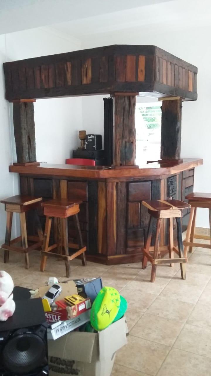 Sleeper wood bar