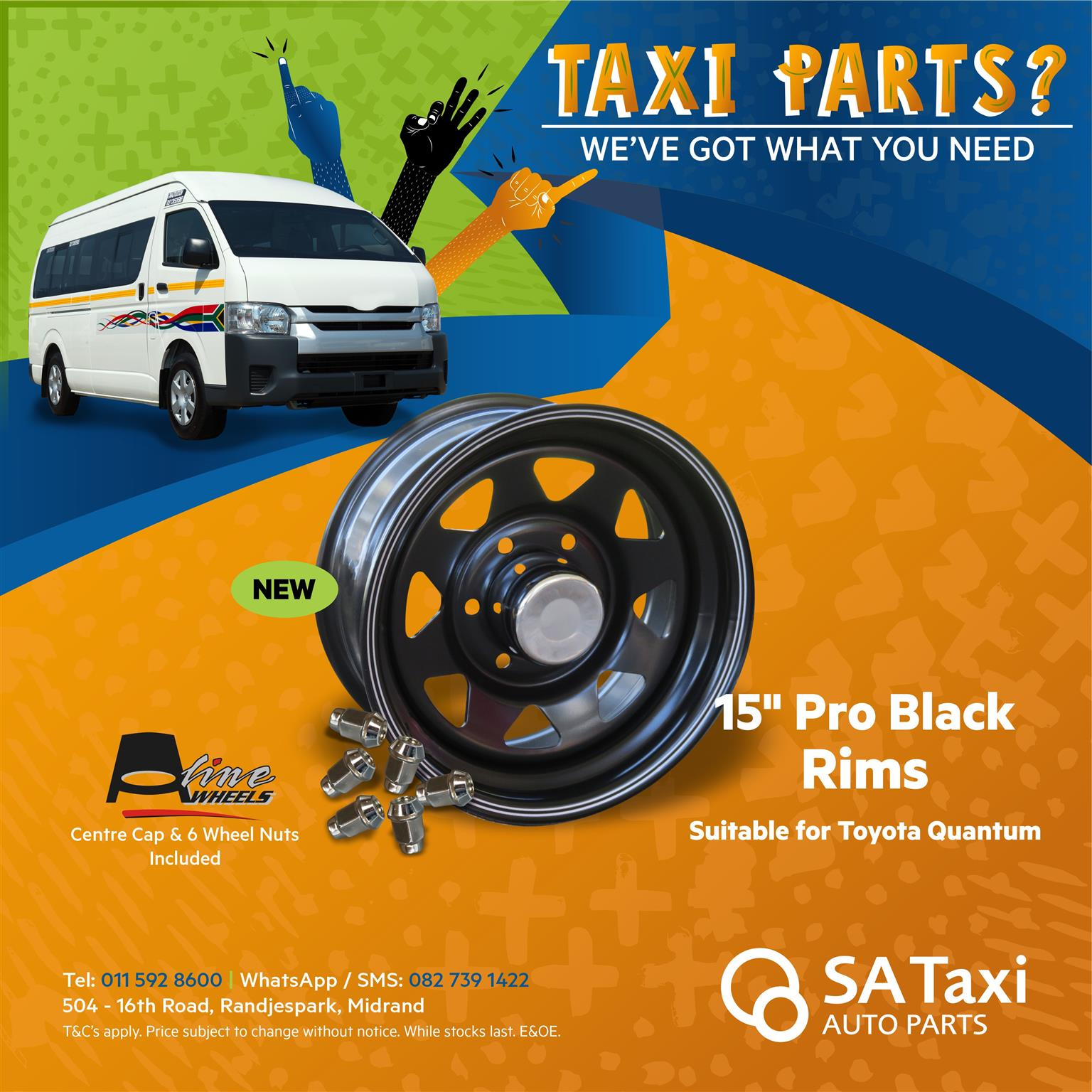"""Aline 15"""" Pro Black Rim for Toyota Quantum"""