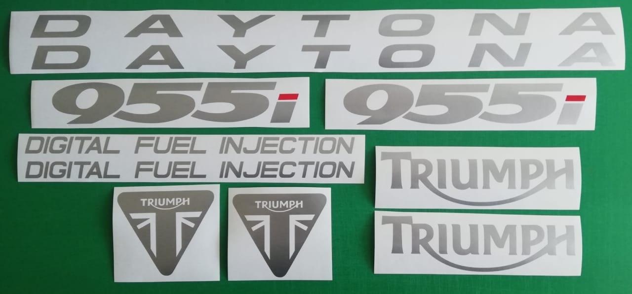 Decals / stickers / vinyl cut set for a 2002 Triumph Daytona 955i