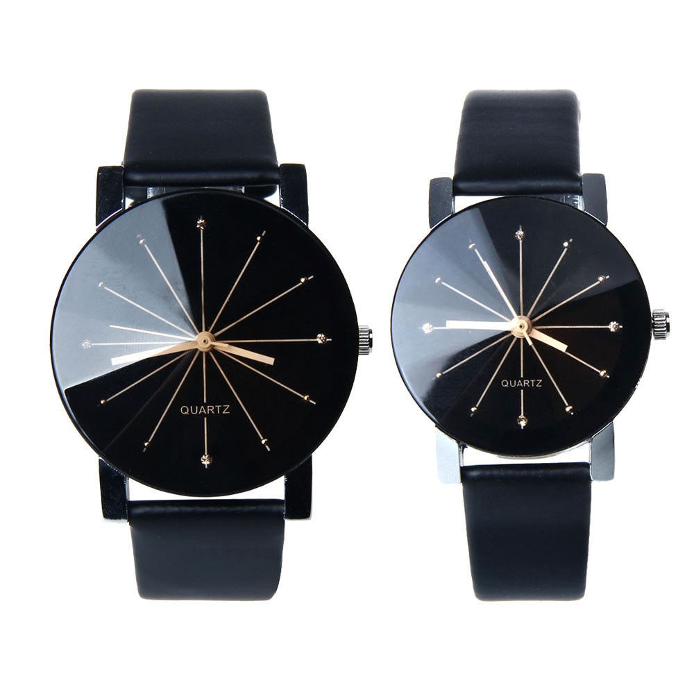 Men or women Quartz dial clock leather wrist watch