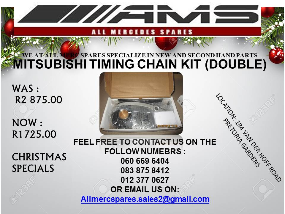 CHRISTMAS SPECIALS !!!! MITSUBISHI TIMING CHAIN KITS (DOUBLE) FOR SALE