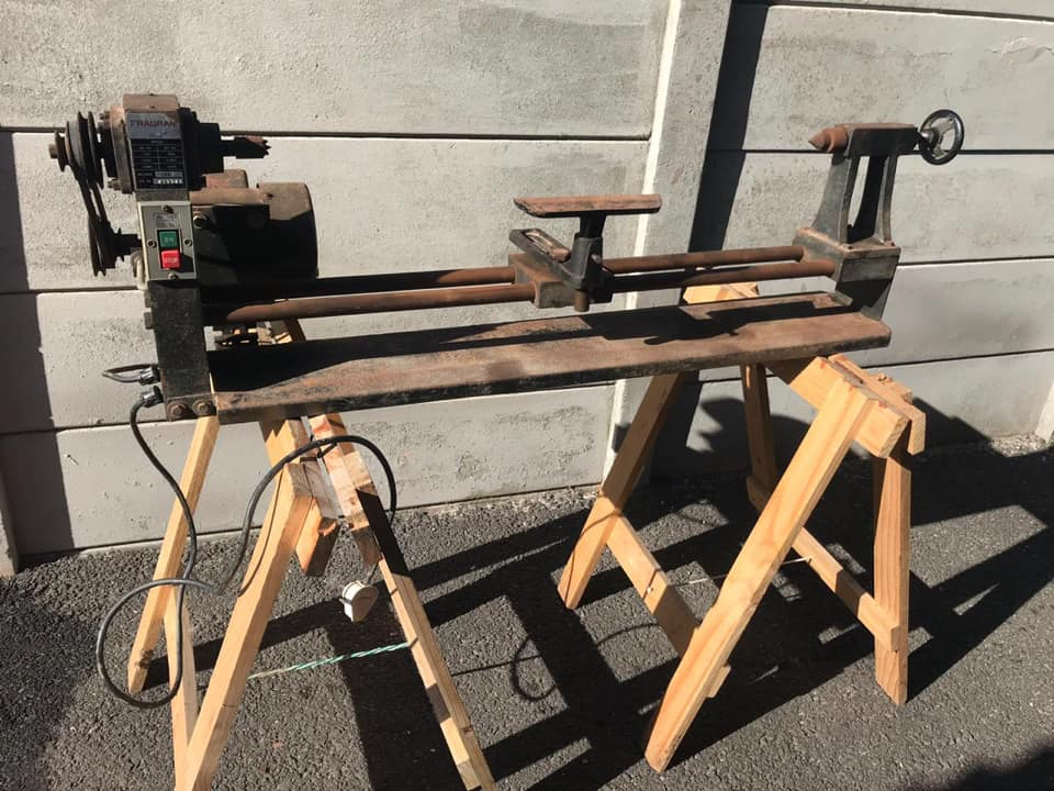 Fragram Wood Turning Lathe with chisels for Sale.