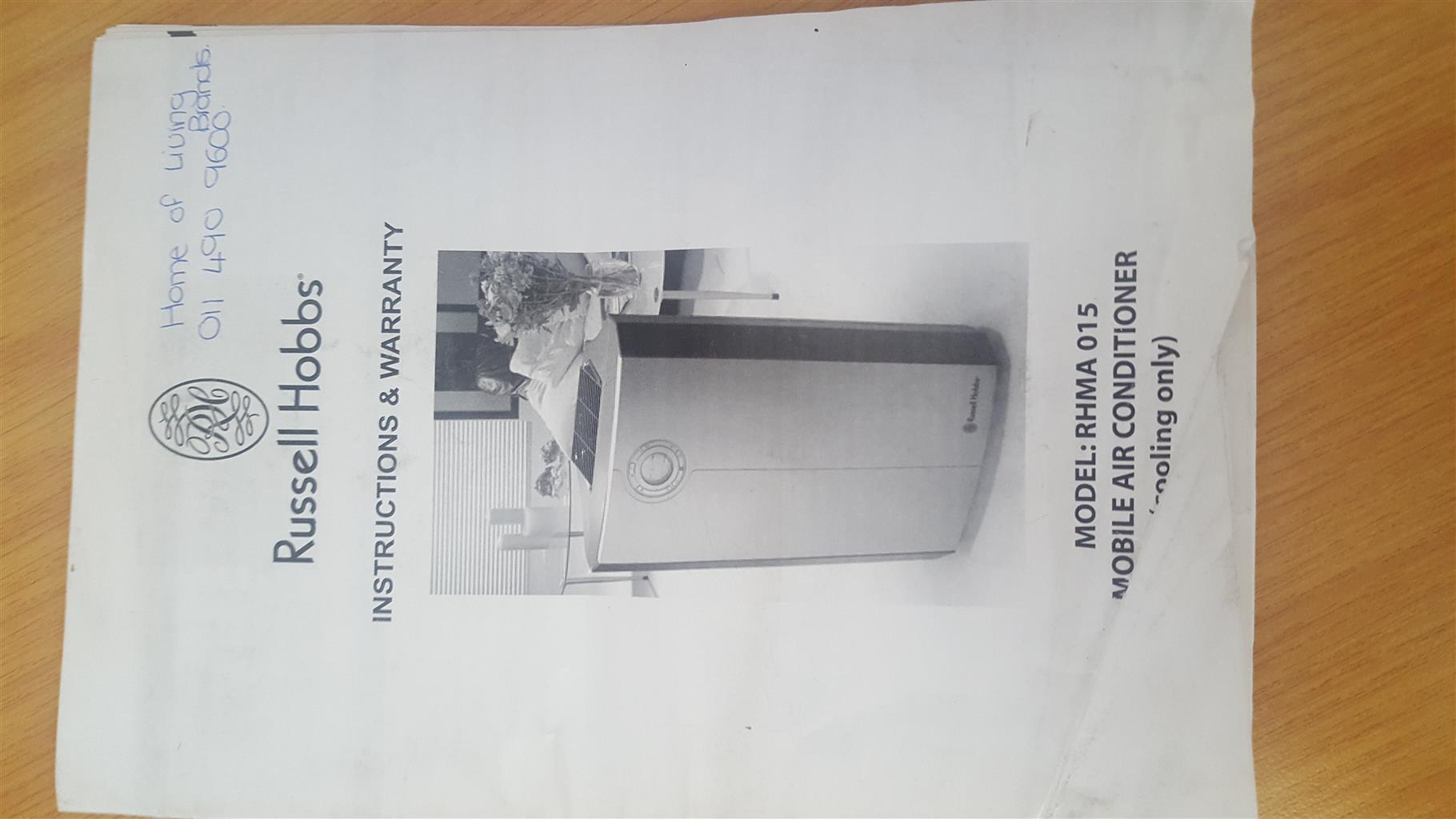 Russel Hobbs mobile air conditioner RHMA 015