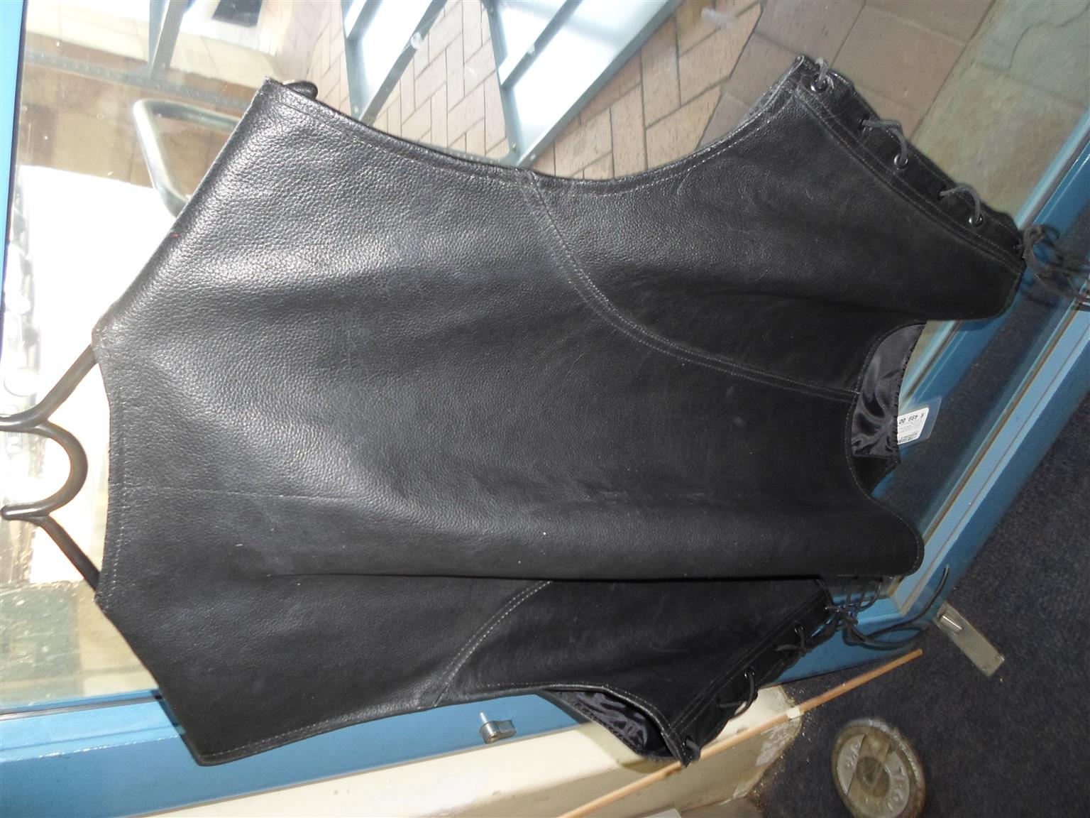 5XL Genuine Leather Motorcycle Jacket