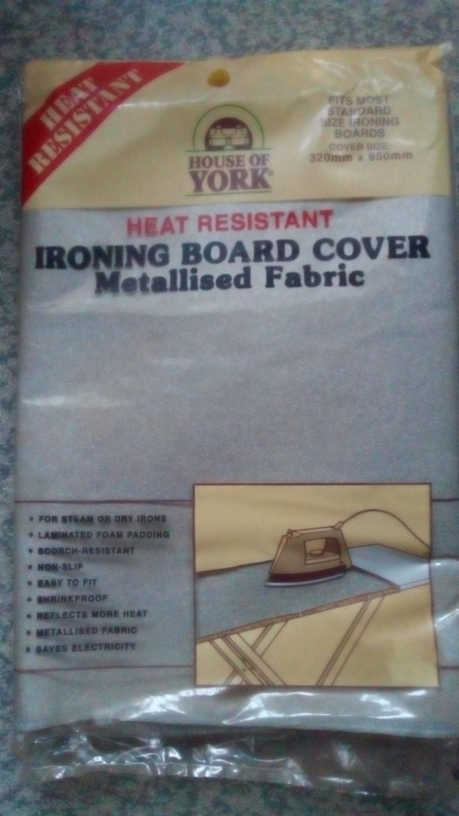 House of York - Ironing board cover - Metallised fabric x 2