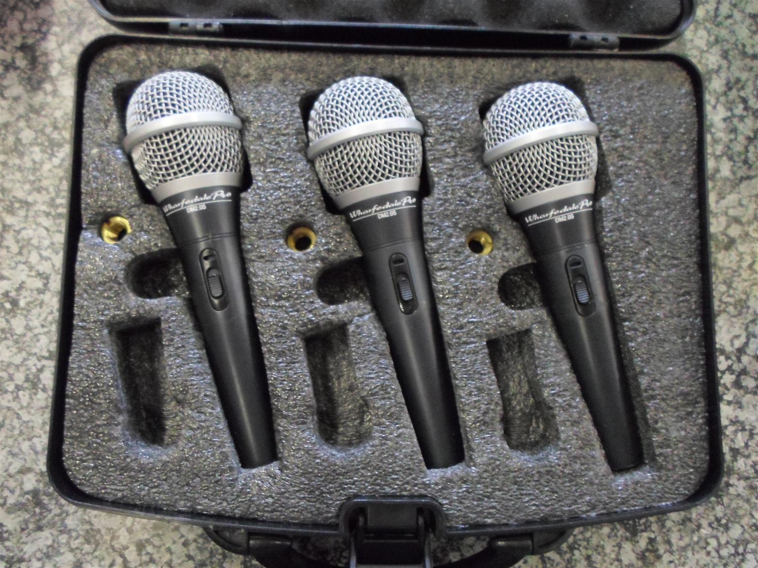 3x Wharfedale Pro DM2.0S Microphones