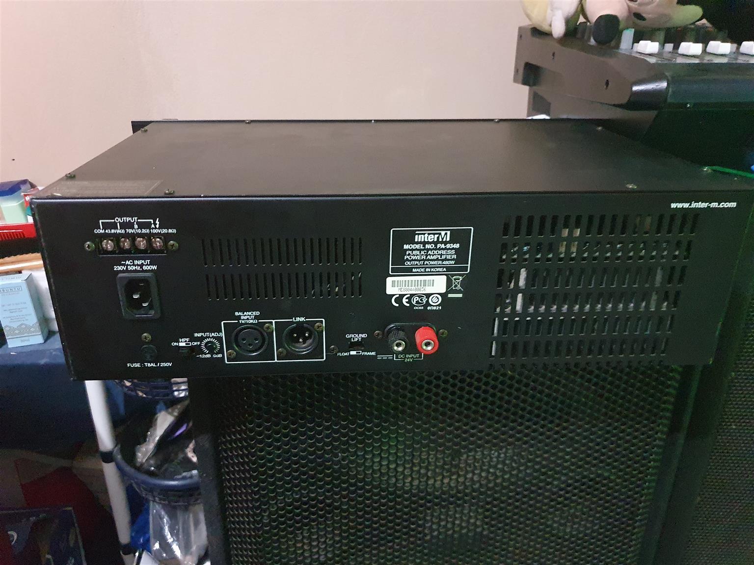 InterM PA-9348 public address power Amplifier