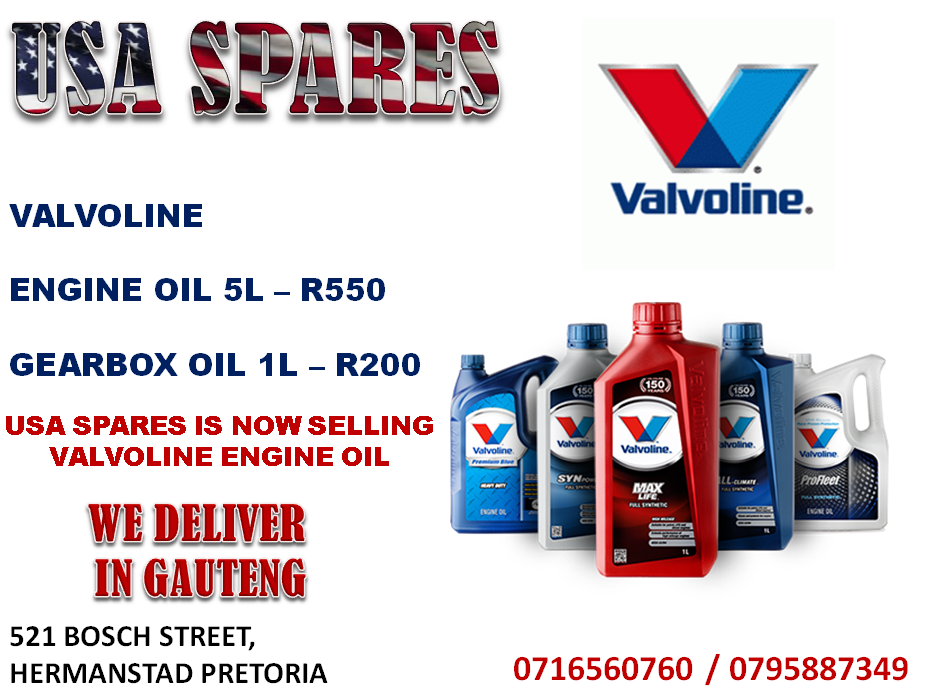 VALVOLINE ENGINE AND GEARBOX OIL FOR SALE