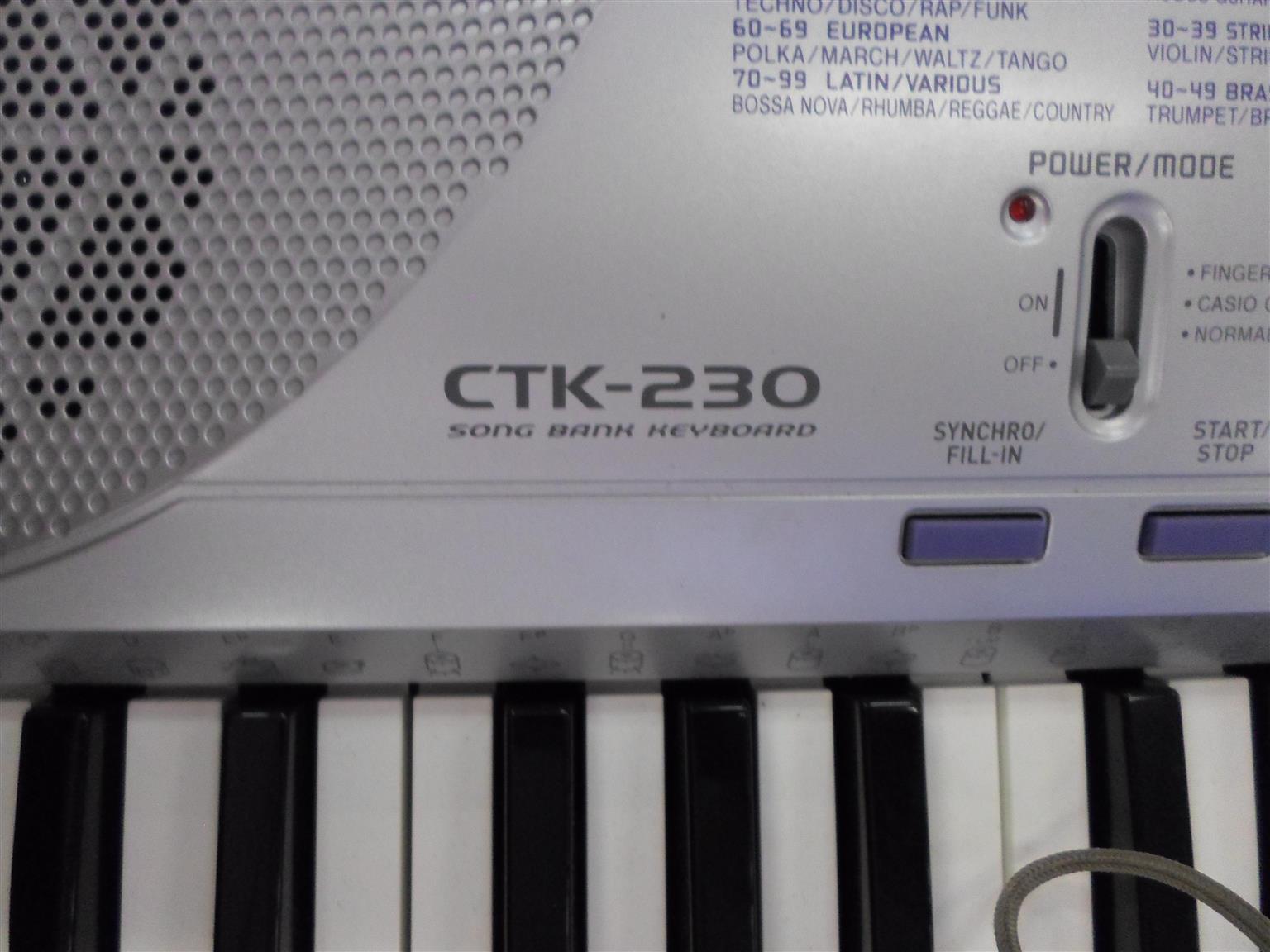 Casio CTK-230 Keyboard.