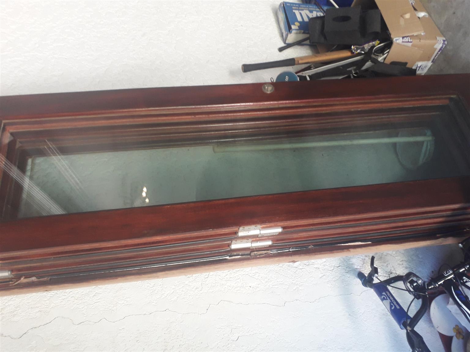 5 panel VAN ACHT WOODEN DOOR-1 SLIGHTLY DAMAGED PANEL