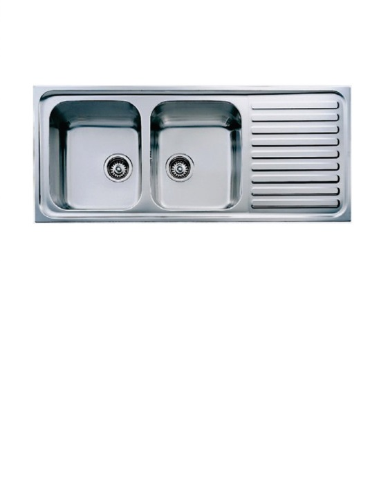 Sink drop in double 500mm x1.2mm
