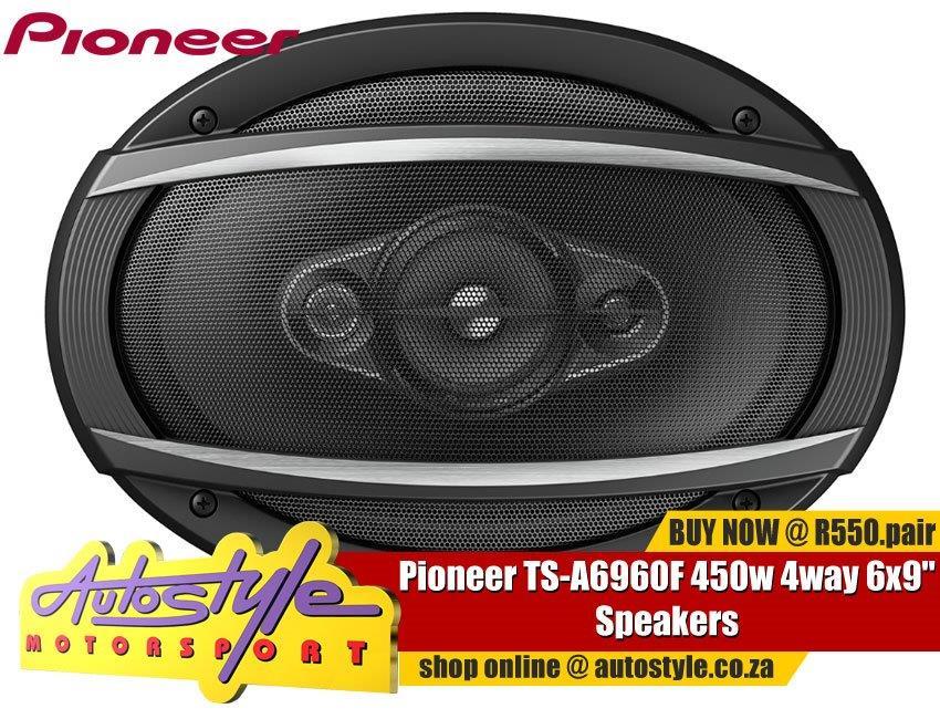"""Pioneer TS-A6960F 450w 4way 6x9"""" Speakers"""