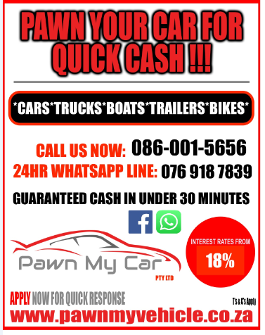 PAWN YOUR CAR FOR QUICK CASH!!!