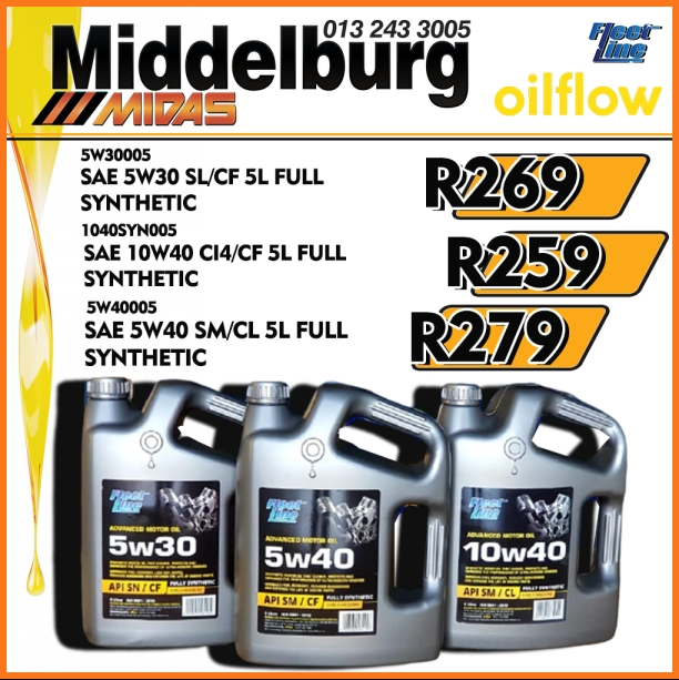 Get Fleet Line 5W30/ 5W40/ 10W40 Motor Oil at these LOW prices