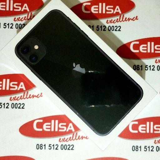 iPhone 11 Black 128g BRAND NEW SEALED - CellSA