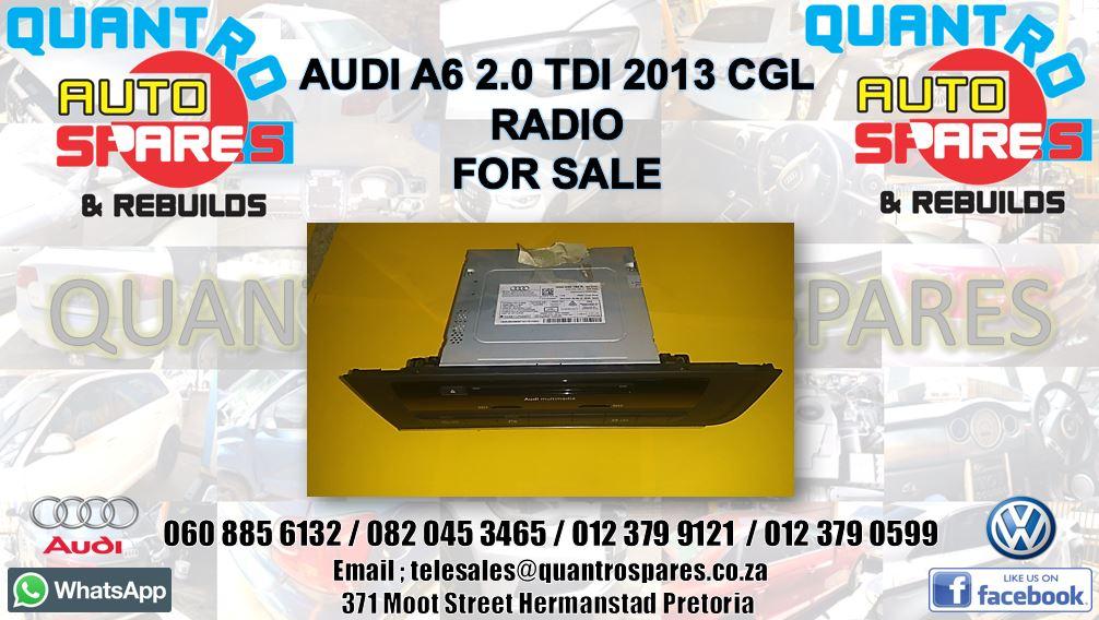 audi a6 2.0 tdi 2013 cgl Radio for sale