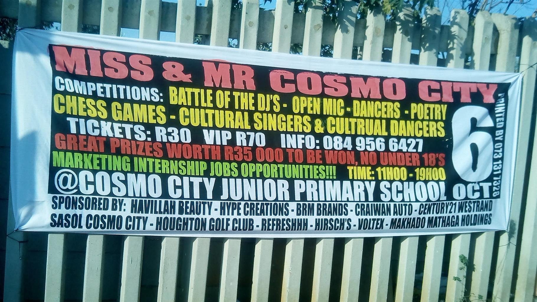 PRIZES FOR MISS & MR COSMO CITY 2018 WINNERS