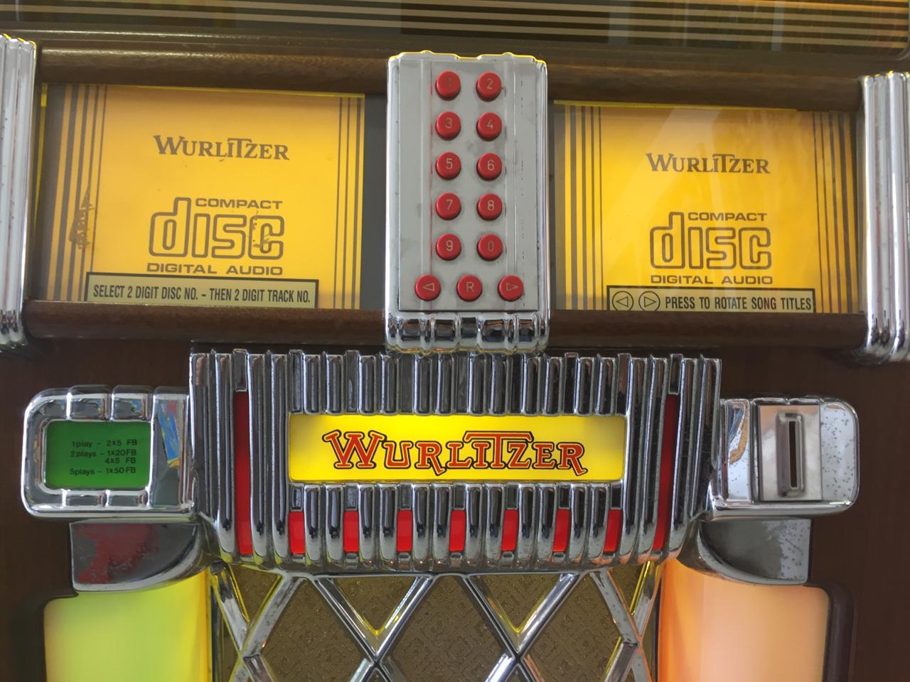 Wurlitzer Model 1015 CD Jukebox Walnut Model for sale in perfect condition