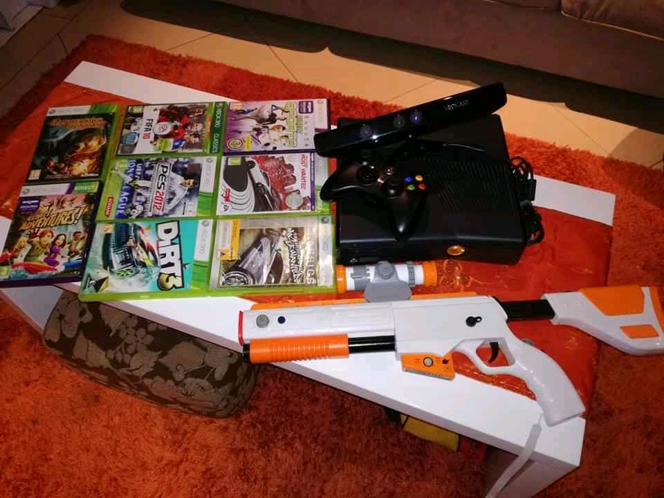 Xbox 360 with games and accessories