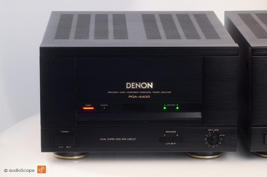 DENON POA-4400 MONO BLOCK POWER AMPLIFIERS