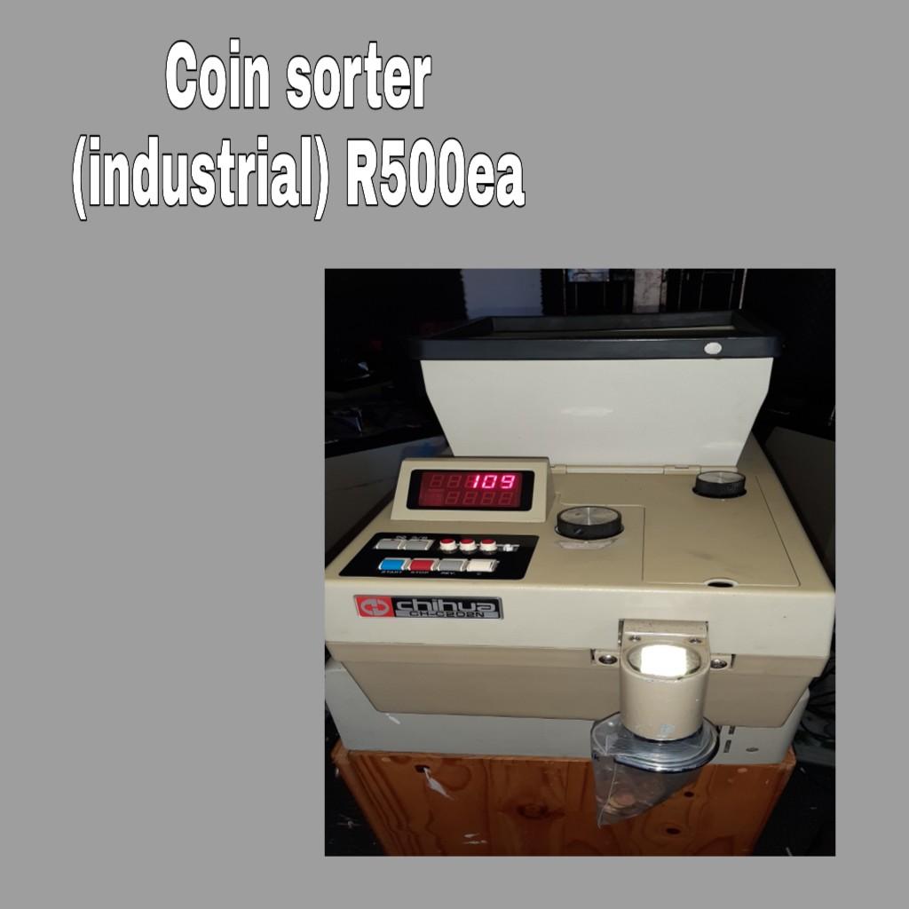 Coin sorter, R500 ea