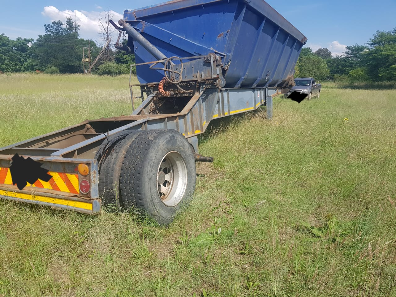 28 cube side tipper trailer for sale