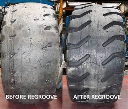 Regroove forklift tyers