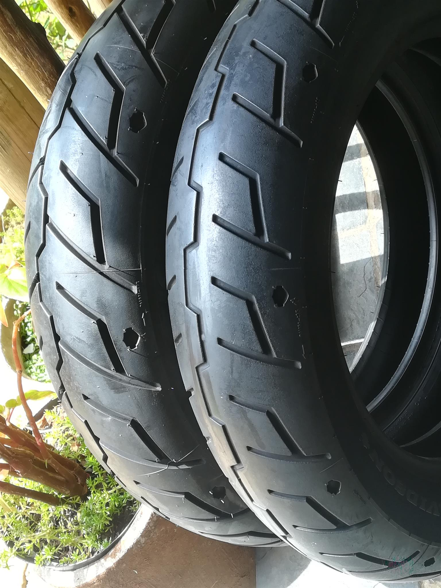 Harley Davidson Sportster Michelin tyres 130x90x16 and 150x80x16