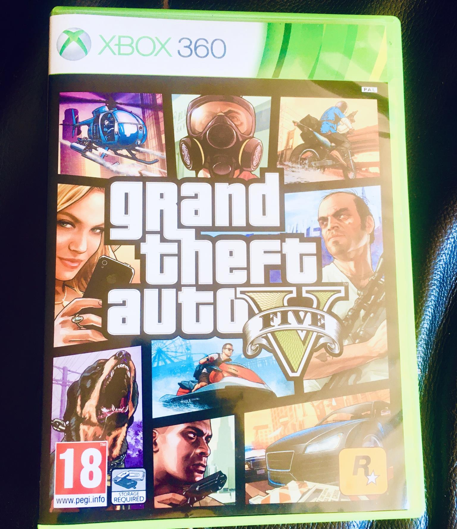 GTA V On Xbox 360 + Limited Edition Map
