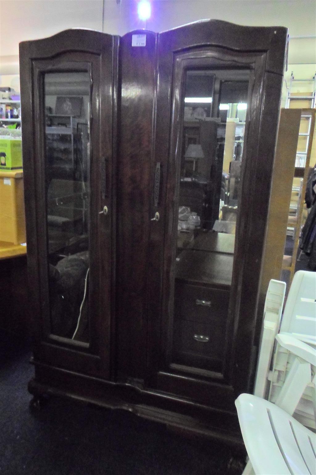 Wooden 2 Door Glass Display Cabinet