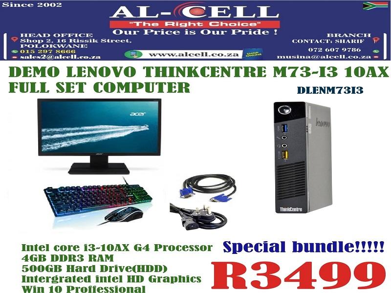 Demo Lenovo Thinkcentre M73-I3 10AX Full Set Computer