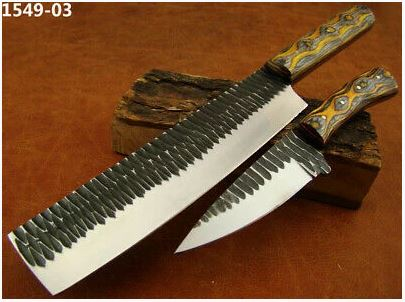 Handmade Stainless Steel Chef's Knife Set 31-39 cm