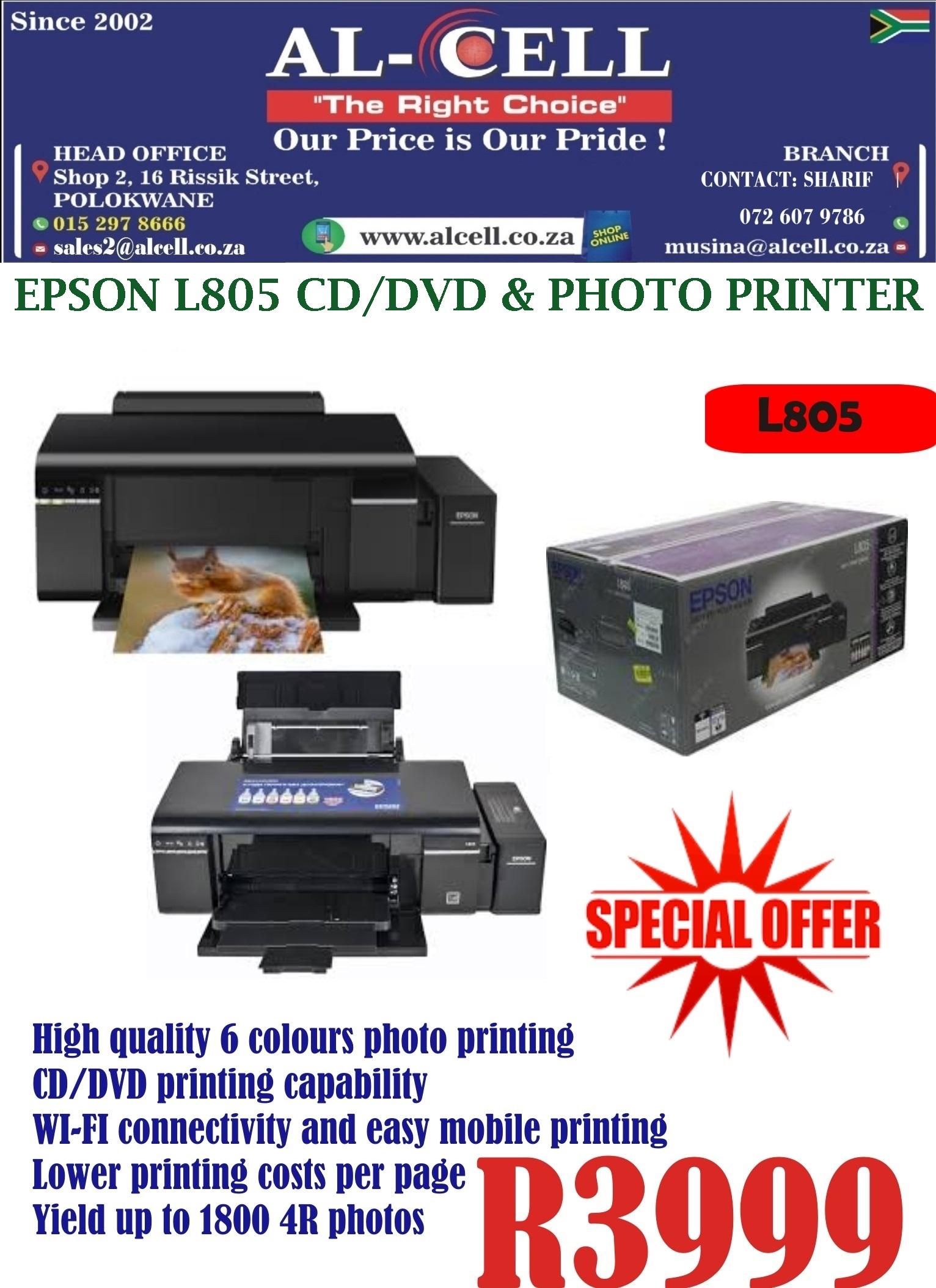Epson L805 CD/DVD & Photo Printer