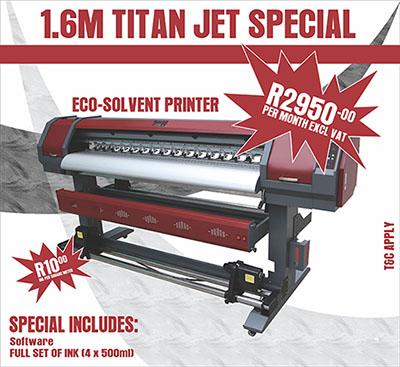 Titan-jet 1.6 Eco-solvent printer