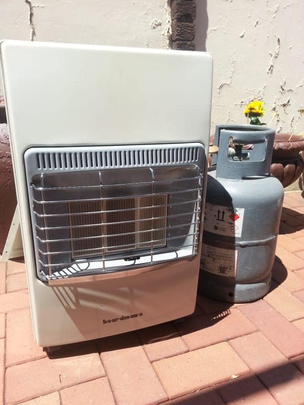 Gas heater with bottle for sale