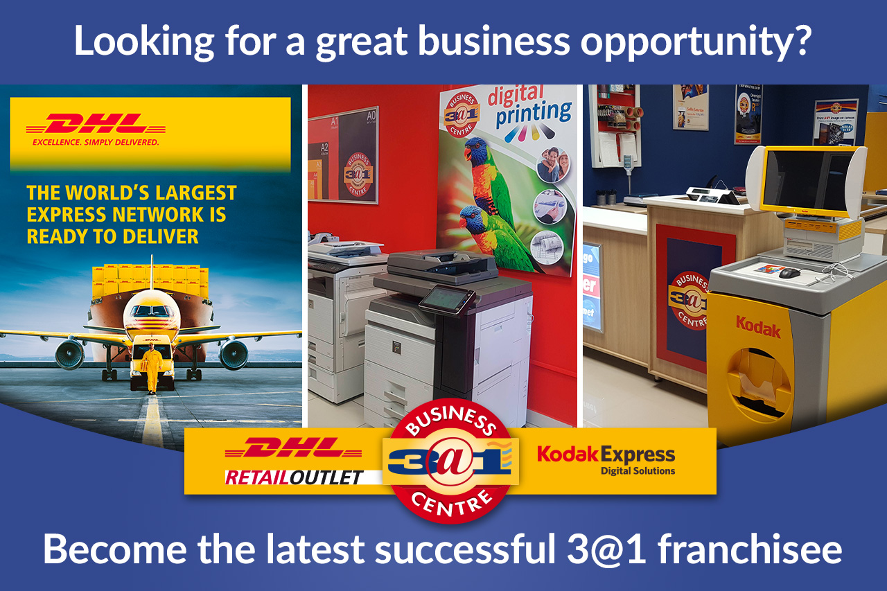 Sasolburg - Print/Courier/Kodak and Image transfer - 3 AT 1 Franchise Business Centre