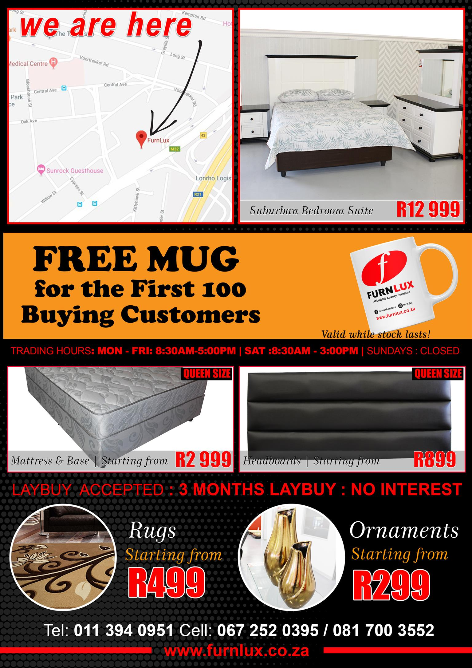 MATTRESS AND BASE BRAND NEW HEAVY DUTY FOR ONLY R 5 499!!