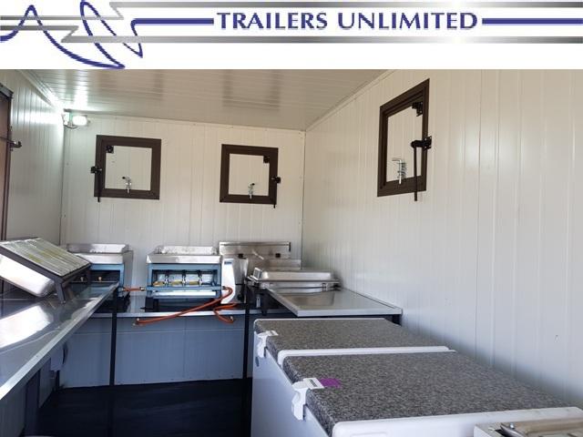 TRAILERS UNLIMITED - WIMPY MOBILE KITCHEN. 4000 X 2000 X 2000MM SINGLE AXLE UNIT.