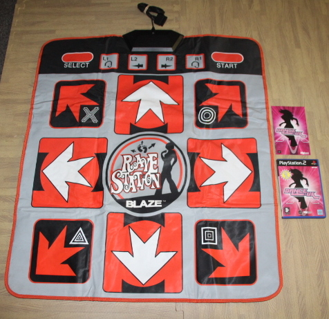 PS2 Dance UK game with dance mat