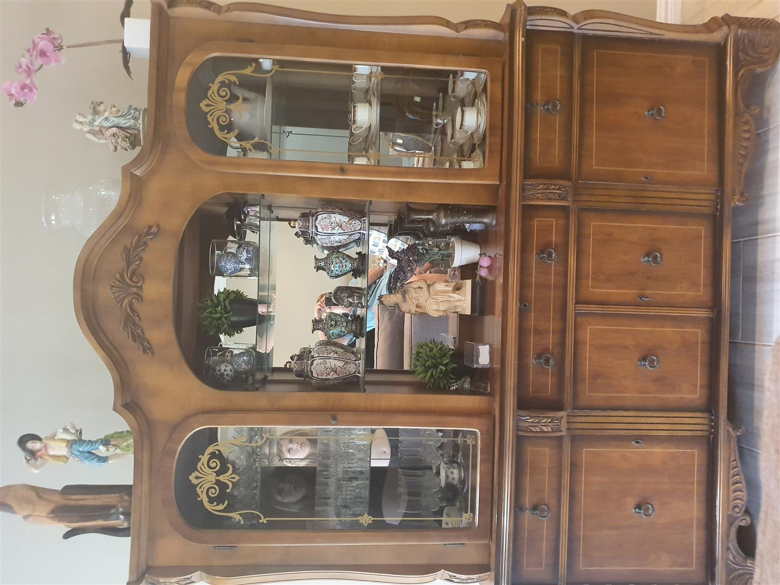 Solid wood sideboard/display cabinet for sale