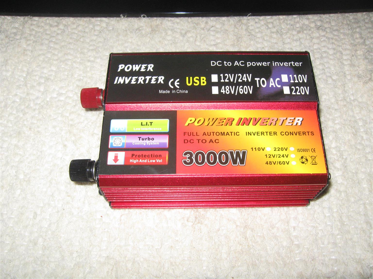 12V F650C BATTERY AND INVERTER