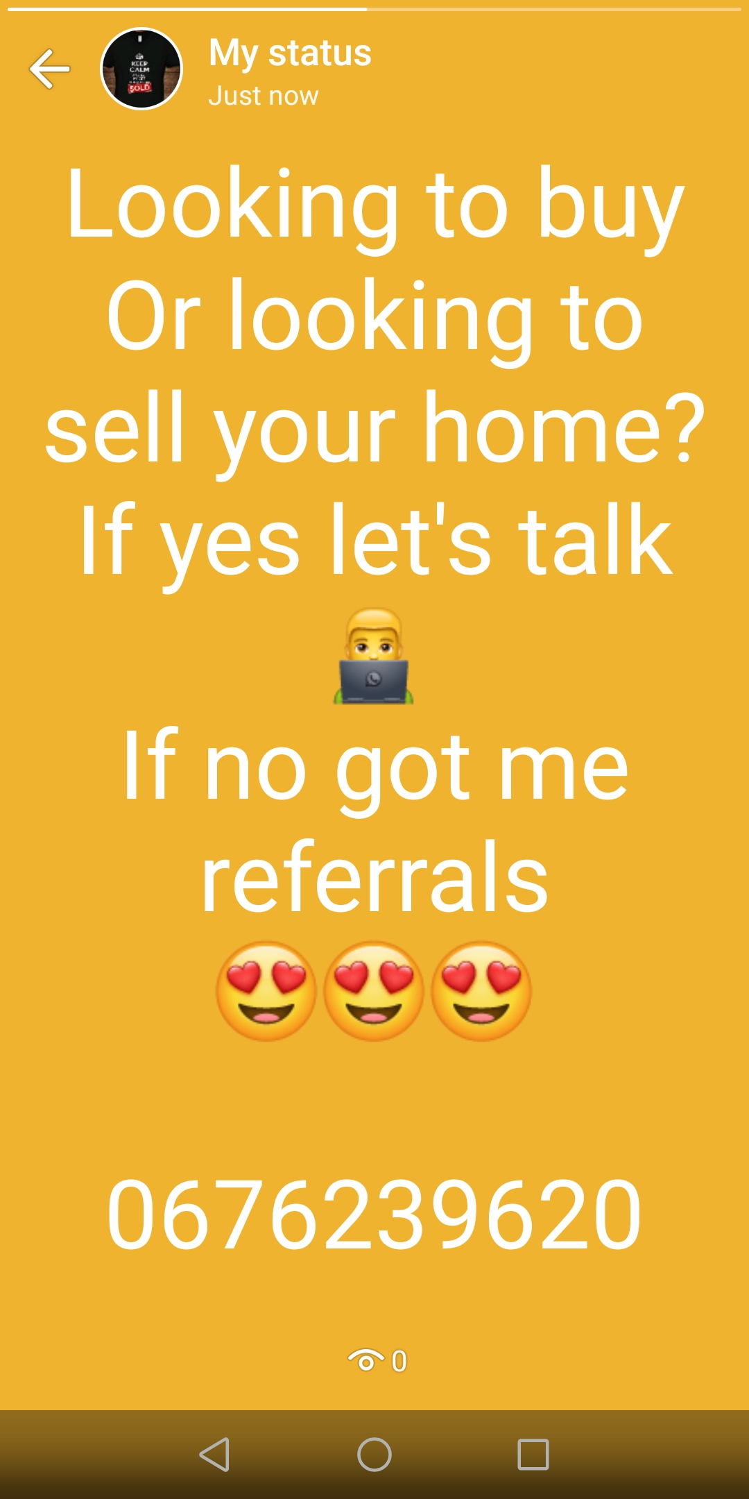 Thinking of selling, renting and buying contact me 0676239620