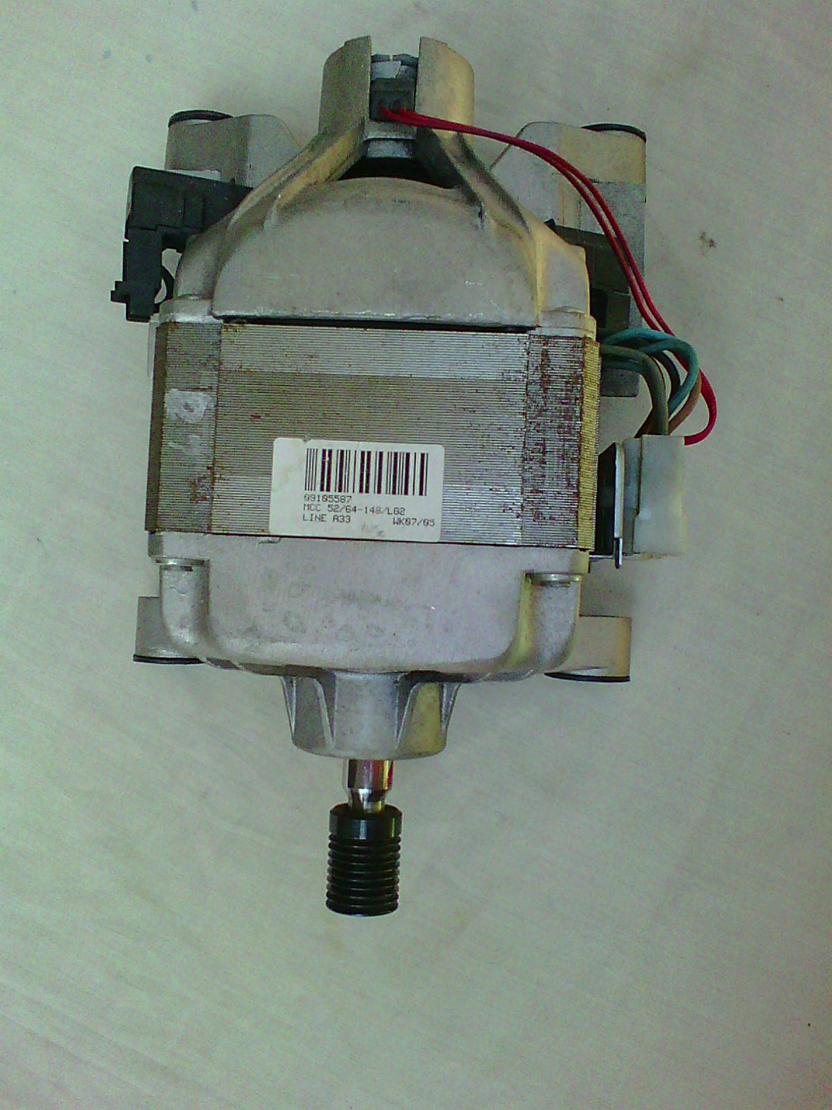 LG MOTOR for a Front loading washing machine.