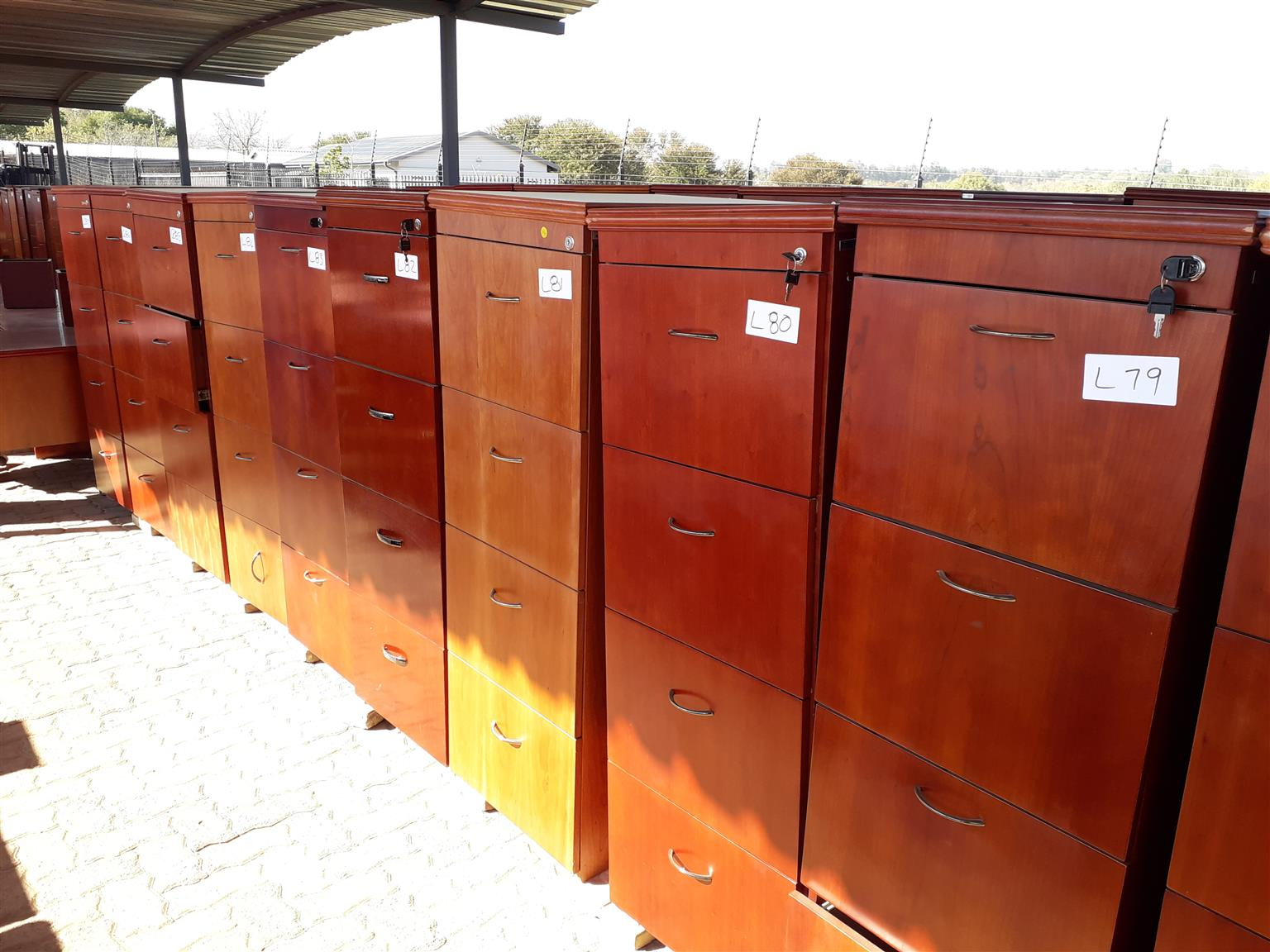 4 drawer wooden filling cabinets R850 each no keys