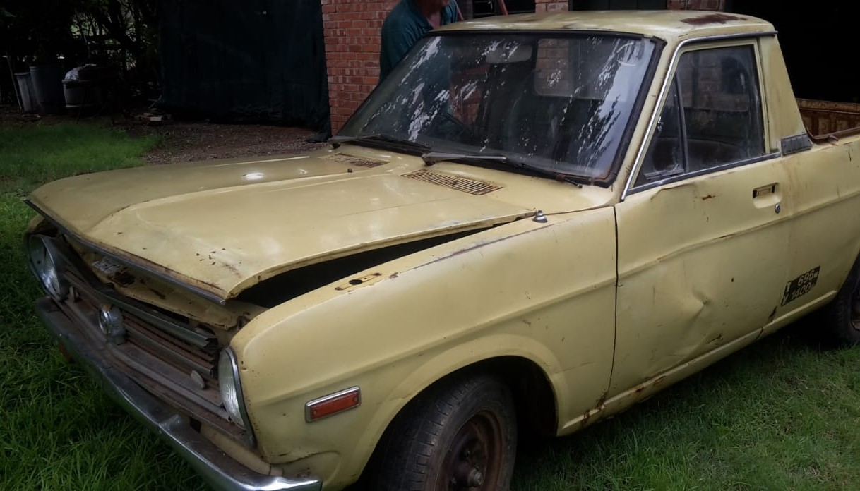 Datsun bakkie, 1975 1976, running engine, 120Y, Nissan, vintage