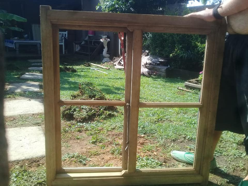 Wooden window, fully glassed