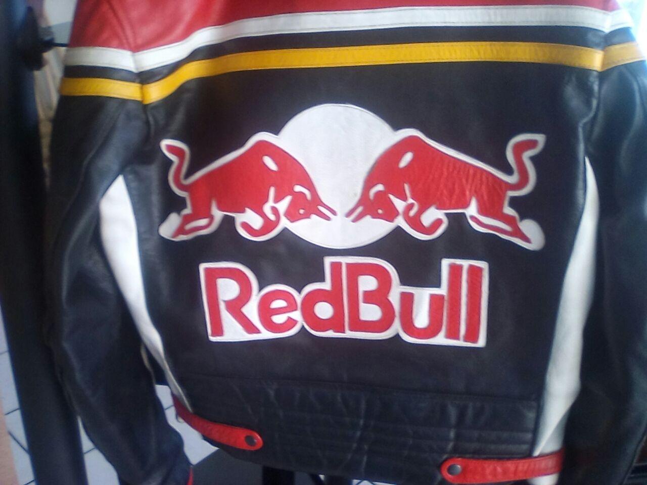 bikers red bull jacket