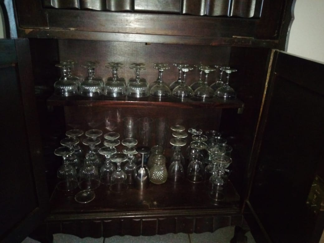 Antique Imbuia booze cabinet