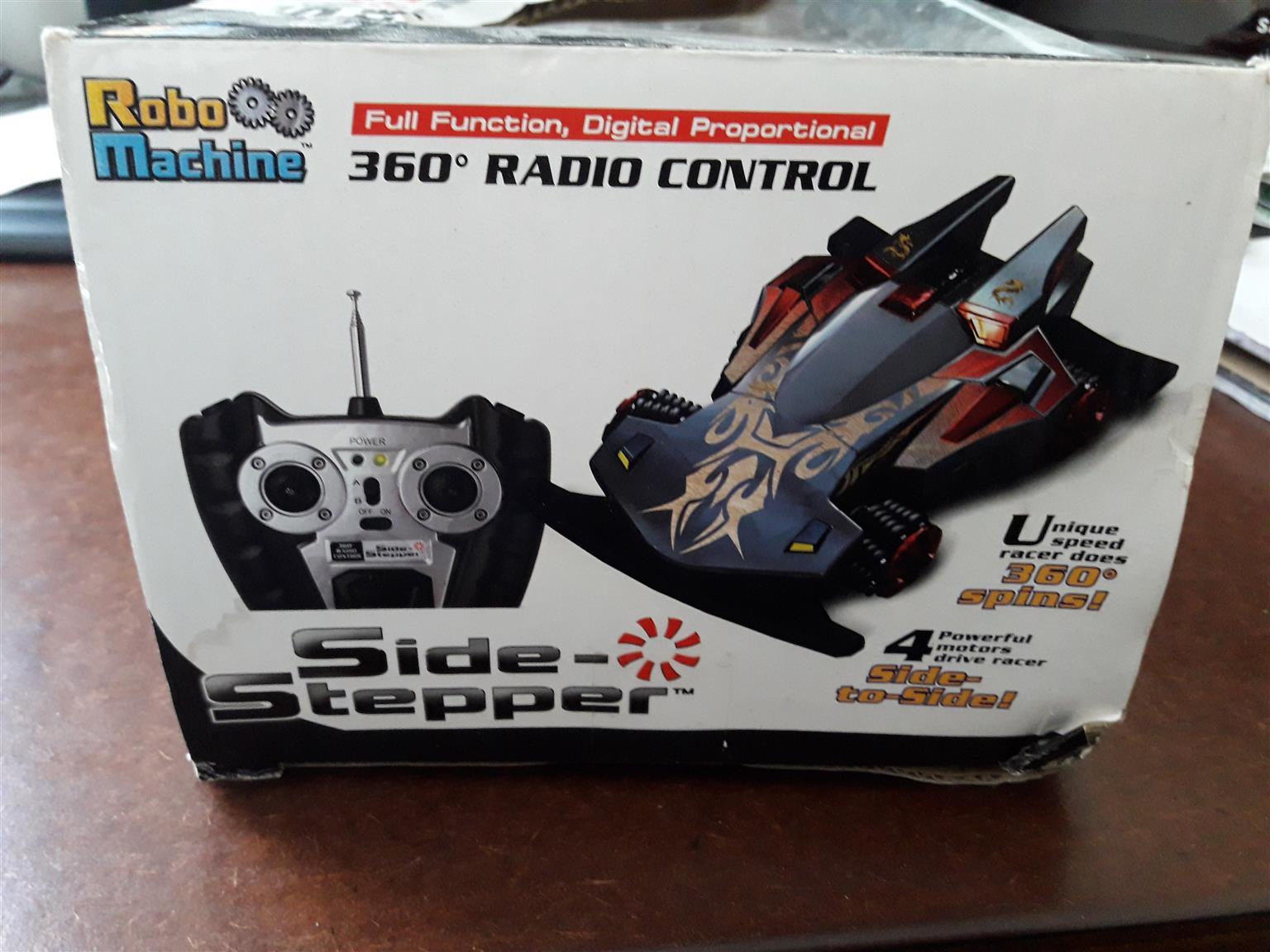 Side stepper radio control model car