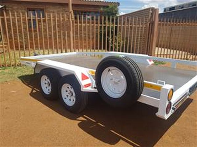 4M DOUBLE AXLE CAR TRAILER FOR SALE BRAND NEW